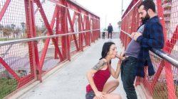 Sexo salvaje en público con la exhibicionista española Alice Blues