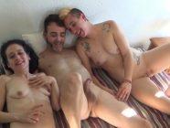 Experiencias como esta no se olvidan, El primer trio de Lucia y Cristian
